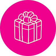 A gift icon